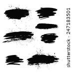 big set of grunge brush strokes.... | Shutterstock .eps vector #247183501