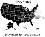 usa map with states | Shutterstock .eps vector #247185115