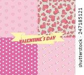 seamless heart pattern | Shutterstock .eps vector #247185121
