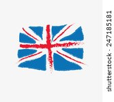 great britain flag hand drawn | Shutterstock .eps vector #247185181