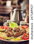 middle east cuisine. a plate of ...   Shutterstock . vector #247189927