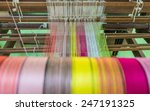 yarn pattern is set up on the... | Shutterstock . vector #247191325