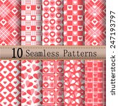 heart patterns red set  with... | Shutterstock .eps vector #247193797