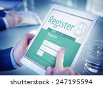 register membership application ... | Shutterstock . vector #247195594