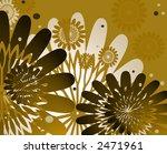 Chocolate Theme Neutral Flower Design - stock photo