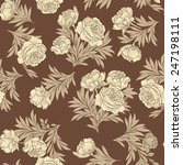floral seamless background.... | Shutterstock .eps vector #247198111