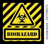 vector biohazard sign yellow... | Shutterstock .eps vector #247198171