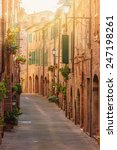 old beautiful tuscan streets in ... | Shutterstock . vector #247198261
