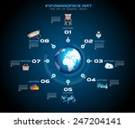 infographic teamwork and... | Shutterstock .eps vector #247204141