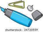 office supplies   Shutterstock .eps vector #24720559