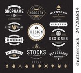 retro vintage insignias or... | Shutterstock .eps vector #247206814