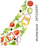 flying ingredients for green... | Shutterstock . vector #247210597