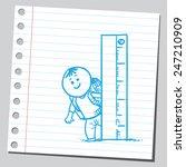 school kid with ruler | Shutterstock .eps vector #247210909