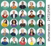 diverse people multi ethnic... | Shutterstock . vector #247219144