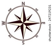 the emblem of the compass rose. ... | Shutterstock .eps vector #247219231