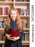 girl with book | Shutterstock . vector #247223089
