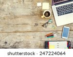 mix of office supplies and... | Shutterstock . vector #247224064
