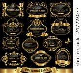 gold framed labels set 10   Shutterstock .eps vector #247226077