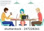concept of the coworking center.... | Shutterstock .eps vector #247228261