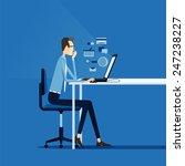 business man working on line...   Shutterstock .eps vector #247238227