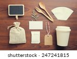 coffee and craft vintage mockup ... | Shutterstock . vector #247241815