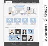 clean flat  website design...