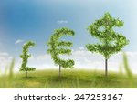 financial growth and success on ... | Shutterstock . vector #247253167