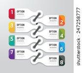 modern infographics design... | Shutterstock .eps vector #247258777