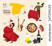 travel concept spain landmark... | Shutterstock .eps vector #247259155