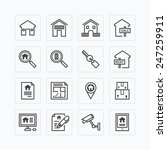 vector flat icons set of real... | Shutterstock .eps vector #247259911