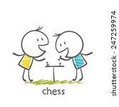 man playing chess illustration | Shutterstock .eps vector #247259974