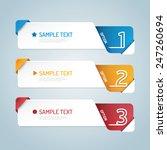 banners set number modern... | Shutterstock .eps vector #247260694