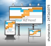 white outdoor advertising... | Shutterstock .eps vector #247261075