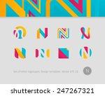 logo design templates. stylized ... | Shutterstock .eps vector #247267321