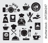 restaurant icons set  | Shutterstock .eps vector #247284247
