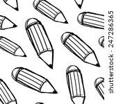 hand drawn pencils. seamless... | Shutterstock .eps vector #247286365