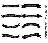 vintage style ribbon set. | Shutterstock .eps vector #247289209