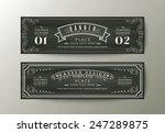 classic style banner design...   Shutterstock .eps vector #247289875