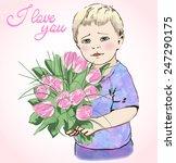 a portrait of a sentimental... | Shutterstock .eps vector #247290175