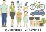vector set of various family...   Shutterstock .eps vector #247298455