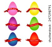 set of colorful easter eggs... | Shutterstock .eps vector #247298791