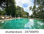 swimming pool in the tropical... | Shutterstock . vector #24730093