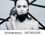 beauty shot of a woman with... | Shutterstock . vector #247301029