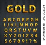 gold alphabet set | Shutterstock .eps vector #247303195