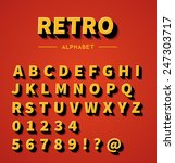 retro 3d alphabet with shadow | Shutterstock .eps vector #247303717