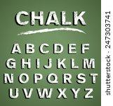 white chalk alphabet   Shutterstock .eps vector #247303741