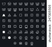 icon set of laundry  washing... | Shutterstock .eps vector #247305505