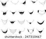 set of smiling mouth | Shutterstock .eps vector #247310467