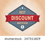 vector vintage sale label and... | Shutterstock .eps vector #247311829