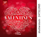 valentines day background with... | Shutterstock .eps vector #247311985